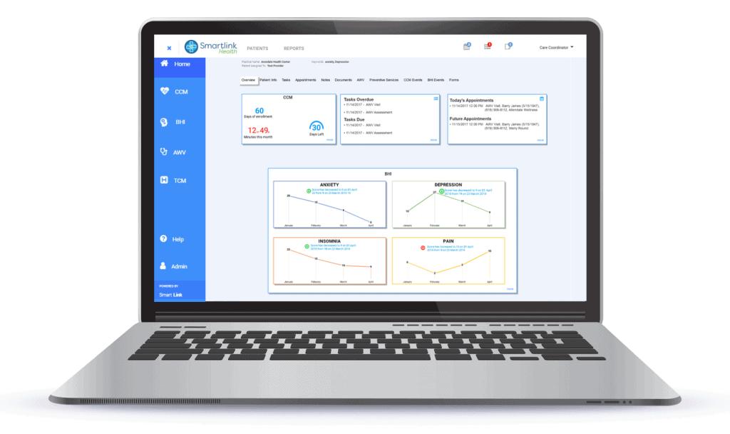 laptop with Smartlink application